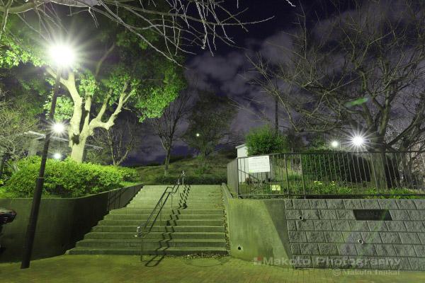 夜景スポット 長浜みはらし公園入口付近の雰囲気