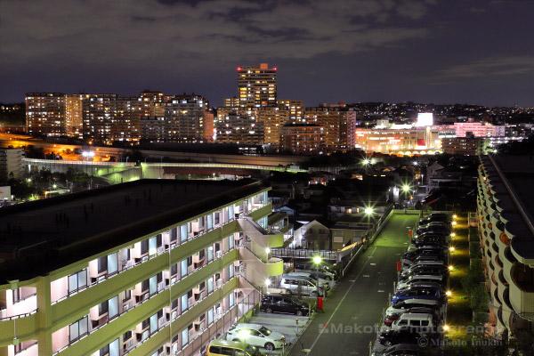 能見台駅周辺(北西)方向の夜景を望む