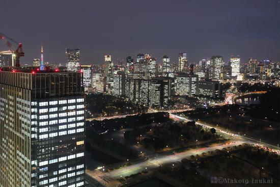 桜田門・霞ヶ関(南西)方向の夜景を望む