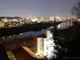 綱島(東)方向の夜景を望む