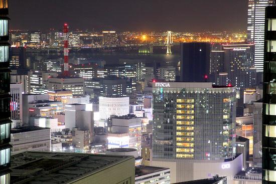 銀座・臨海副都心(南)方向の夜景を望遠で捉える
