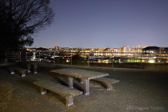 夜景スポット 太尾見晴らし公園 展望エリアの雰囲気