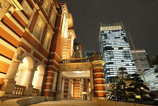 東京ステーションホテル入口付近の雰囲気