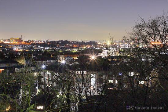 日野市(北)方向の夜景を望む
