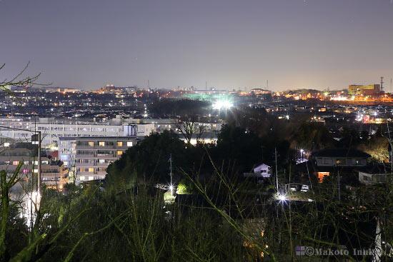 東豊田(北西)方向の夜景を望む