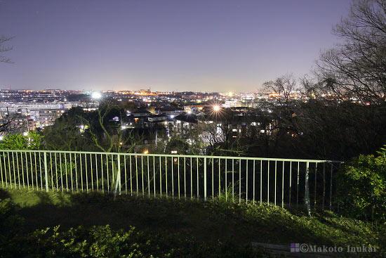 夜景スポット ふじみ公園 展望エリアの雰囲気