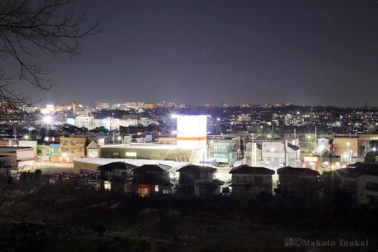 北野街道・多摩平(北西)方向の夜景を望む