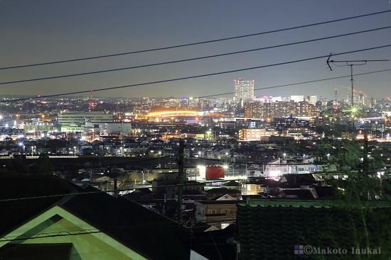立川市街(北東)方向の夜景を望遠で捉える