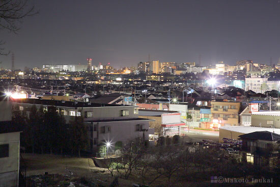 豊田(西)方向の夜景を望む