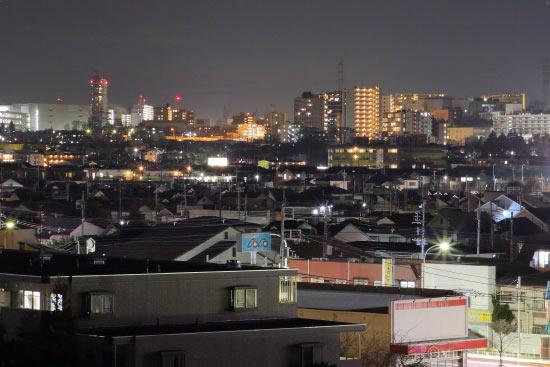 豊田(西)方向の夜景を望遠で捉える
