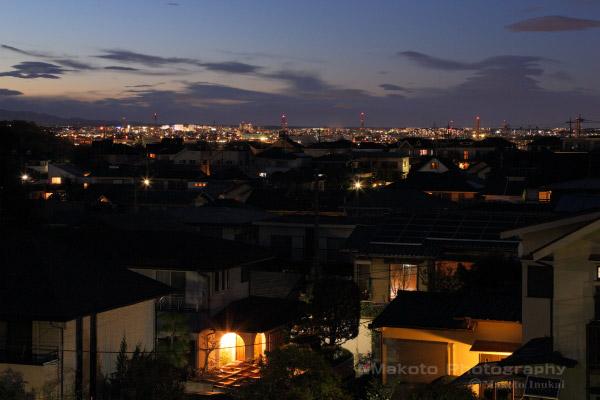 立川・国立(北西)方向の夜景を望む
