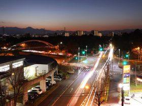永山(西)方向の夜景を望む