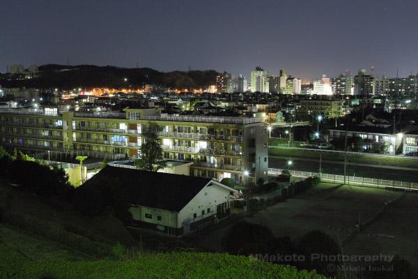 一ノ宮・百草(北西)方向の夜景を望む