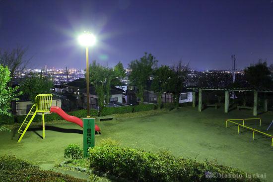 豊田・八王子(北西)方向の夜景を望む