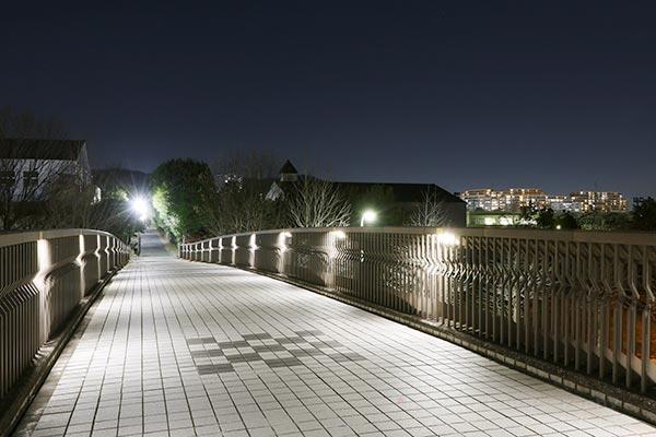 夜景スポット 竪谷戸橋の雰囲気