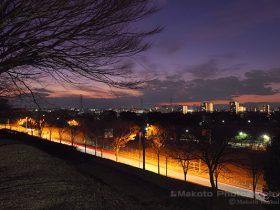 永山・多摩センター(西)方向の夜景を望む