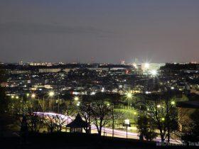 鶴川団地(南)方向の夜景を望遠で捉える