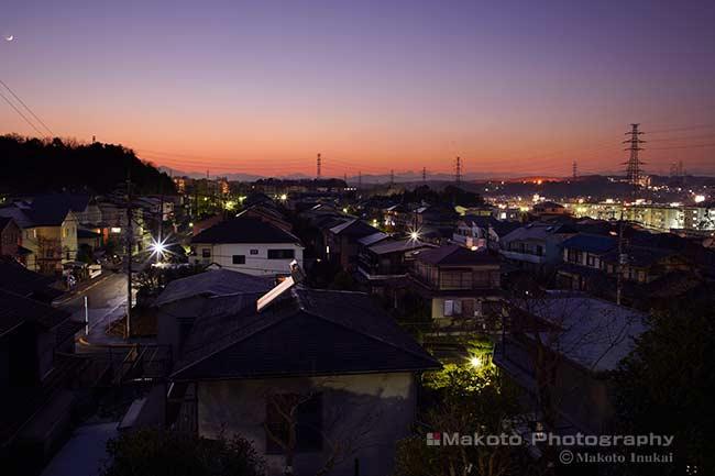 鹿島(西)方向の夜景を望む