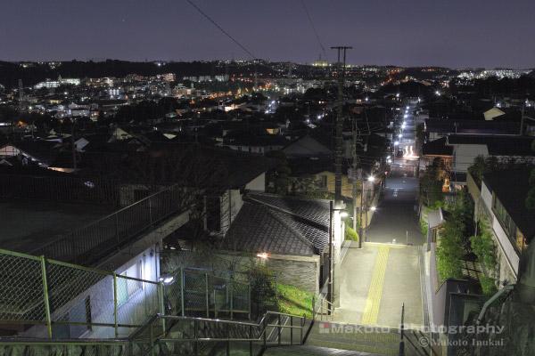 連光寺(東)方向の夜景を望む