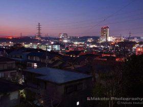 和田・大塚(北)方向の夜景を望む