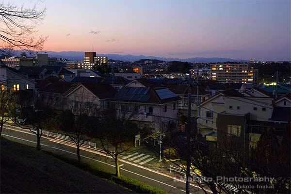 諏訪・聖蹟桜ヶ丘(北西)方向の夜景を望む