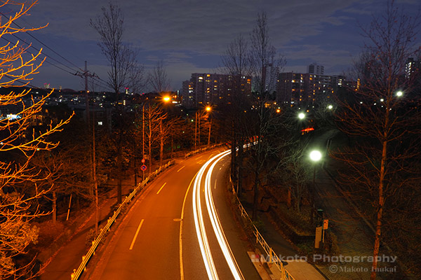 橋上より東側の夜景を望む
