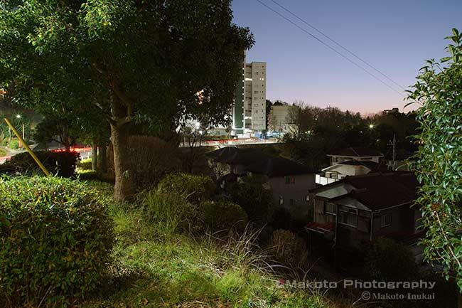 夜景スポット 愛宕団地の雰囲気