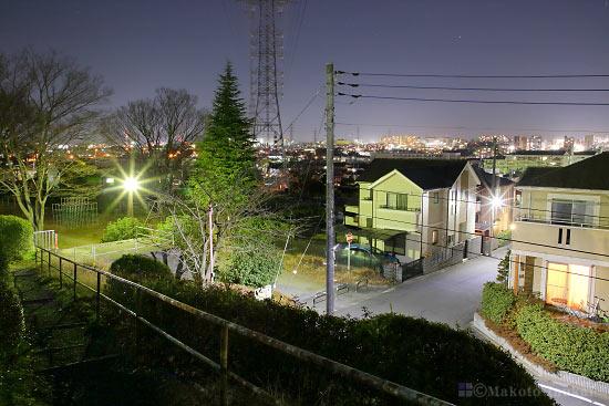 豊田駅(北西)方向の夜景を望む