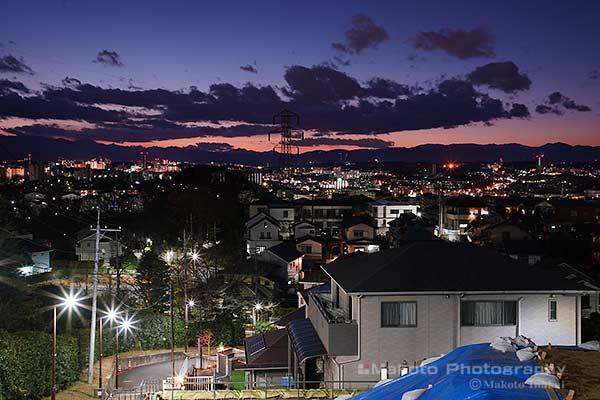 永山・多摩センター(南西)方向の夜景を望む