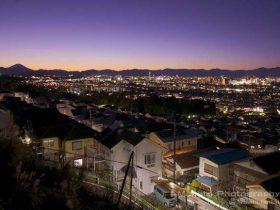 八王子・豊田(北西)方向の夜景を望む