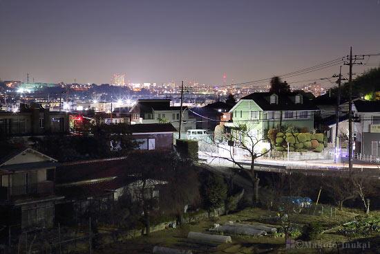 南平・日野(北東)方向の夜景を望む