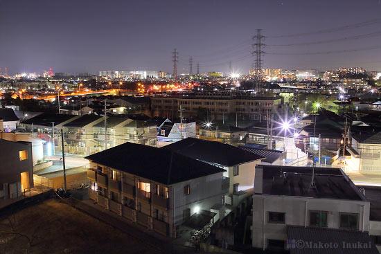 豊田(北北西)方向の夜景を望む