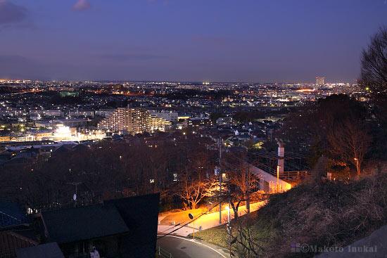 日野・立川(北東)方向の夜景を望む