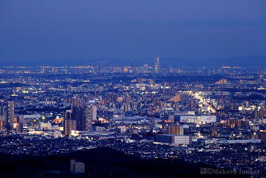 橋本・相模原(南東)方向の夜景を望む