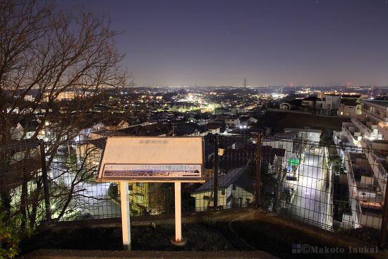 夜景スポット 王禅寺見晴らし公園の雰囲気