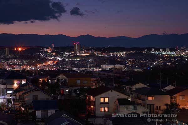 聖蹟桜ヶ丘(北西)方向の夜景を望む