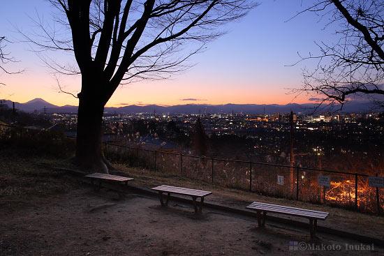 夜景スポット みはらし公園の雰囲気
