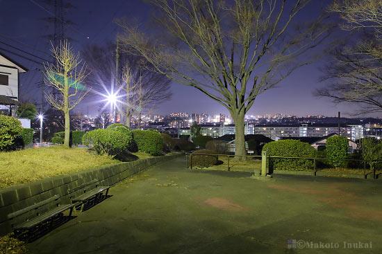 夜景スポット たちばな公園の雰囲気