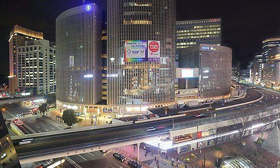有楽町マリオン・有楽町駅(北)方向の夜景を望む