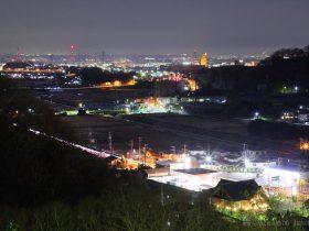 愛甲西(南東)方向の夜景を望む