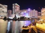 横浜駅(北)方向の夜景を望む
