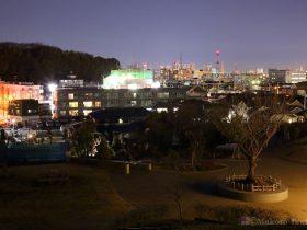 師岡町(北)方向の夜景を望む