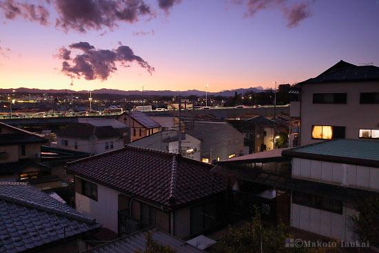 昭島町(南西)方向の夜景を望む
