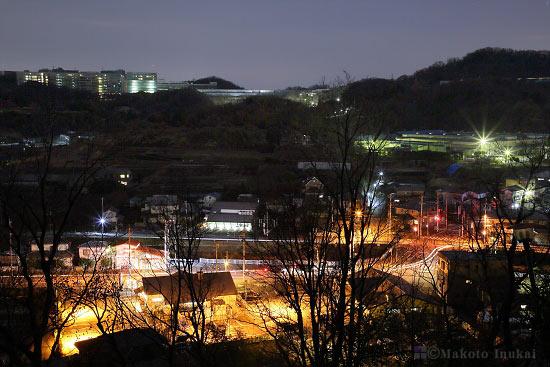 小野(南)方向の夜景を望む