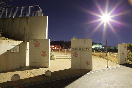 夜景スポット 師岡町梅の丘公園 入口付近の雰囲気
