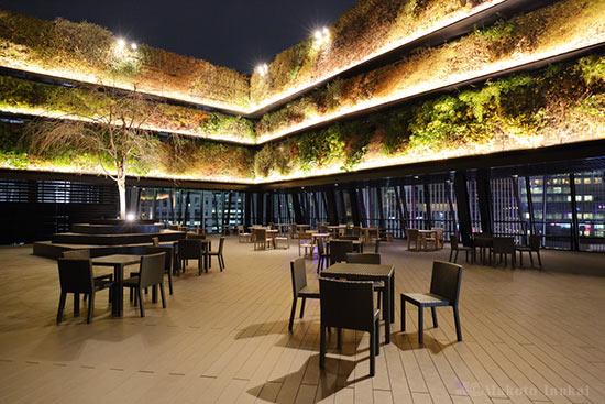 夜景スポット 東急プラザ銀座 KIRIKO TERRACEの雰囲気