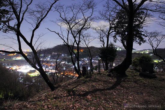 夜景スポット 小町神社展望エリアの雰囲気