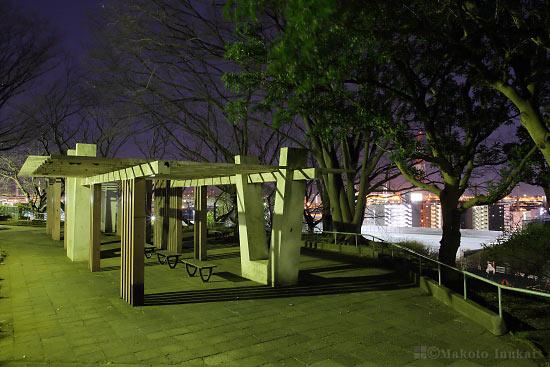 夜景スポット 子安台公園展望エリアの雰囲気