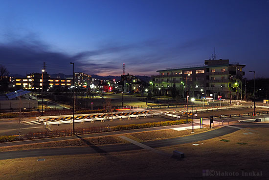 中神町(北西)方向の夜景を望む