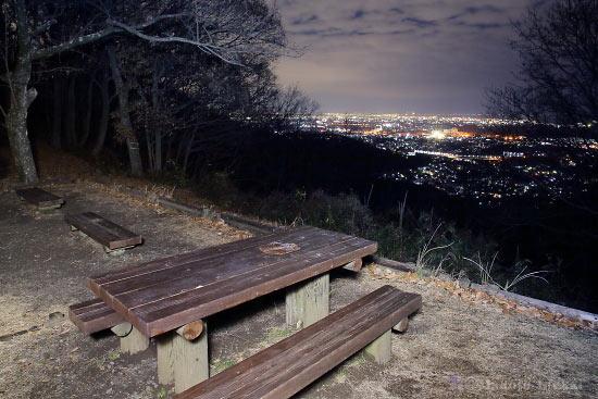 夜景スポット 権現山展望エリアの雰囲気